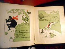 1900s Rare! MOTHER WILD GOOSE LJ Lewis Jesse Bridgman Comical Animal Rhymes Kids