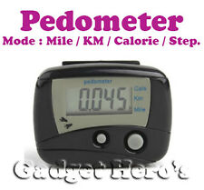 Digital II LCD Pedometer Step Calories Counter. Walking Distance With Belt Clip