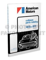 AMC and AMX Javelin Body Parts Book 1968 1969 1970 1972 Rambler Hornet Gremlin