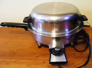 LIFETIME 17905 WEST BEND ELECTRIC OIL CORE STAINLESS STEEL WATERLESS SKILLET