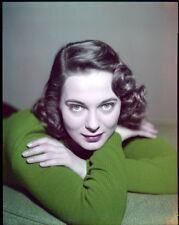 JUNE LOCKHART Stunning Vintage Early Glamour Portrait Original 4x5 TRANSPARENCY