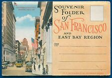 San Francisco California ca East Bay Region Trolleys postcard travel folder