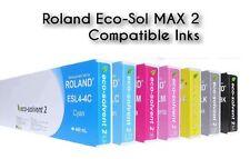 8 Tinte für ROLAND Soljet Pro 4 XR640 XF640 VersaCamm 440ml Eco Solvent MAX INK