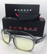 New GUNNAR Computer Glasses ENIGMA 58-18 Smoke Frames with Amber Yellow Lenses