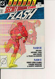 COMIC BOOK -SECRET ORIGINS ANNUAL #2 1988 VF/VF+ FLASH NICE! L@@K!