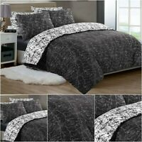 Duvet Cover Set 100% Egyptian Cotton Quilt Covers Bedding Sets Double King Size