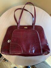 Case Logic Red Leather Ladies Briefcase Work Carrying Case Shoulder Bag