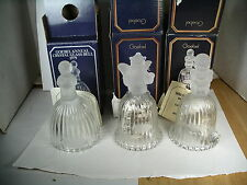 Lot (3) Goebel 1979- 1980-1981 Annual Crystal Bell New old stock In Box
