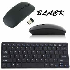 USB 2.4GHZ Wireless Slim Keyboard and Cordless Mouse Combo Kit Set for PC LO