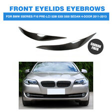 Carbon Front Headlight Cover Eyelids Eyebrows For BMW F10 528i 530i 535i 11-17