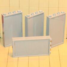 LEGO Fenster Rahmen hellgrau 1x4x6 mit Gitter hellgrau 60596 92589 NEUWARE