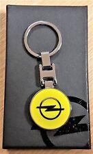 Opel Schlüsselanhänger gelb beidseitig emailliert  in ORIGINAL Verpackung