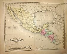 Antique 1866 Hand Colored Map of Mexico, Central America and Caribbean