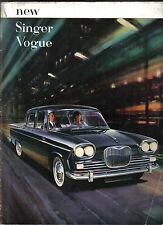 SINGER VOGUE série I 1961-62 Original sales brochure pub. No 804/H
