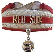 Boston Red Sox Baseball Infinity Bracelet Jewelry Apparel