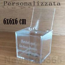 12X Scatola Plexiglass portaconfetti a forma di CORONA 5x5 cm BOMBONIERA 0XEU
