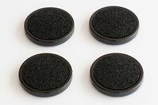 4 schalldämmende Untersetzer mit Iso-Floor, schwarz, Klavier, Kunststoff