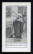 antico santino litografico- holy card S.GIOVANNI DELLA CROCE