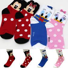 4 Pairs Women Socks Big Kids Mickey Mouse Friends Cartoon Disney Character Socks