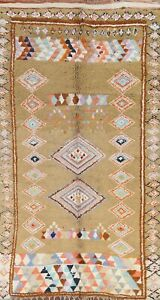 Moroccan Geometric Oriental Area Rug Hand-knotted Wool Carpet 6x11 ft NEW