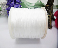 70Meter Chinese Knot Satin Nylon Braided Cord Macrame Beading Rattail Cords 1mm