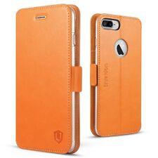 iPhone 7 Plus Wallet Case, SHIELDON Genuine Leather Wallet Case Magnetic Flip Fo