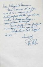 Ray Bolger Wizard Of Oz Star Autographed 5x7 Signed Hand Written Letter D.1987 Traveling Entertainment Memorabilia