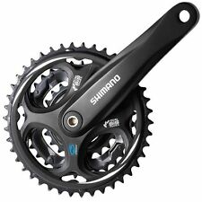 Shimano Altus 8 Speed Crank MTB BLACK Chainset 48/38/28 175mm NO Chainguard