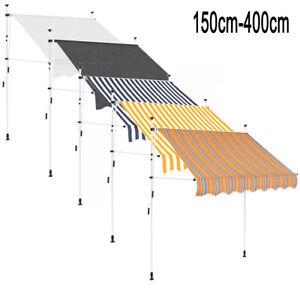 Markise Einziehbar Manuell Klemmmarkise Sonnenschutz Sonnenschirm 150cm-400cm