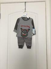 Duck Duck Goose Here Comes Trouble Baby Boy's 2 Pc Set Shirt Pants Sz 6/9M