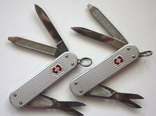 PAIR OF Victorinox ALOX WAFFLE Classic SD Swiss Army Kn silver tone MSRP $63.00
