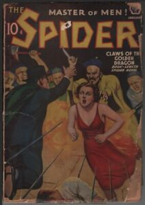 Spider 1939 January.     Pulp