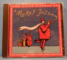 A MERRY JAZZMAS CD 1991 VARIOUS  ROY HARGROVE HILTON RUIZ CARMEN MCRAE