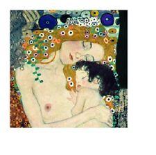 Le tre età della donna (Three ages of Woman) by Gustav Klimt Art Print 27.5x27.5