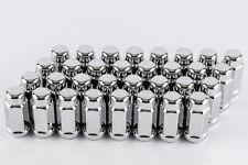 "Set 32 1/2"" x20 Chrome Bulge Lug Nuts 2"" Long Truck Lugs W1012L Ford Trucks"