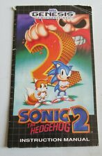 Sonic The Hedgehog 2 Sega Genesis Instruction Manual Only