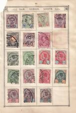 Thailand Stamp Collection On Old Album Page - King Chulalongkorn