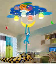 Cute Stars Moon Pendant Light LED Chandeliers Child's Room Ceiling Fixture Lamp