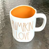 New Rae Dunn Pumpkin Love Mug Orange Lettering LL 2019 VHTF By Magenta