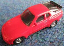 HERPA plastic model PORSCHE 944 1:87 [HO] Scale Red Excellent Cond -Fuchs wheels