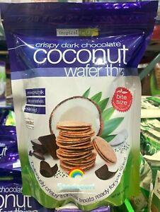 Tropical Fields Crispy Dark Chocolate Coconut Wafer Thins 14 oz