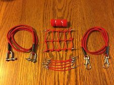 RED 1/10 Scale Roof Net + 2 Tow Straps + 6 Bungee Cords +Sleeping Bag TrailRig