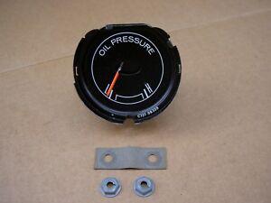68 Ford Mustang instrument oil pressure gauge, C7ZZ-9B308-B, RESTORED