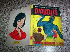DIABOLIK ANNO VI (SESTO) ORIGINALE N.25 DEL 1967 MB/OTTIMO.....KRIMINAL SATANIK
