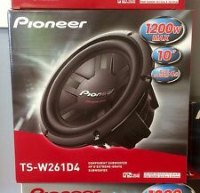 """Pioneer TSW261D4 1200W 10"""" Champion Series Dual 4 ohm Car Subwoofer Brand New"""