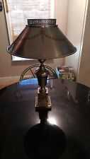 1950s Bare Metal Hand Painted Lamp Artist Signed ...Must See!!