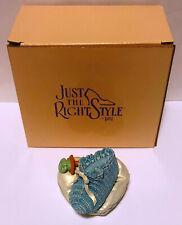 1999 Just The Right Shoe Blue Lullabye Baby Shoe Trinket Box 25409