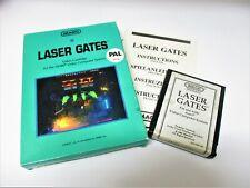 Atari 2600 game  Laser Gates IMAGIC  *box shows wear*
