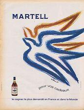 Publicité Advertising 016 1968 Martell cognac par Villemot