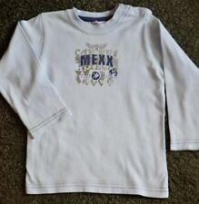 MEXX Superbe T-shirt manches longues bleu ciel pour petit gars de 18/24 mois